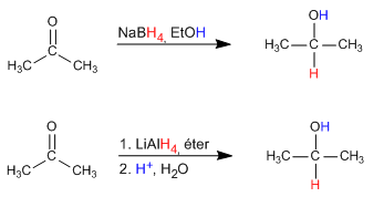 Alcohol synthesis by reduction of aldehydes and ketones
